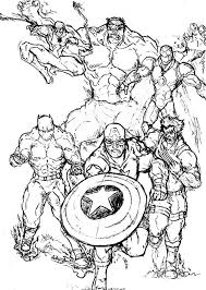 Perfect Marvel Super Heroes Coloring Pages 37 With Additional For Adults