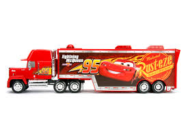 Disney Pixar Cars 3 Mack With Lightning McQueen Trailer Holds 2 ...