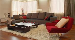 Brown Furniture Living Room Ideas by Red And Brown Living Room With Elegant And Visually Powerful That