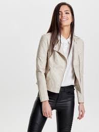 leather look short jacket only