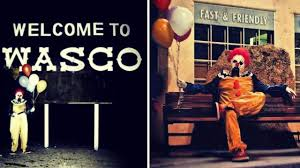 Bakersfield Halloween Town 2017 by Creepy Clowns Started As Halloween Stunt In Wasco Abc7 Com