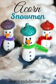Best Kids Craft Ideas Images On Winter Art Crafts Kid Acorn Snowmen Nature For Simple Easy