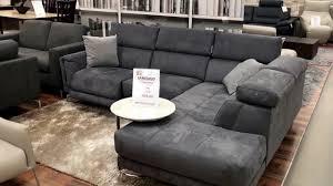 natuzzi editions dark grey fabric corner suite uk factory