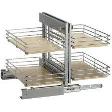 Blind Corner Base Cabinet Organizer by Steel Pull Out Organizers Kitchen Cabinet Organizers The
