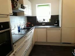 küchenzeile l form küche lava vanille beige mit e
