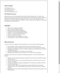 1 Financial Administrative Assistant Resume Templates Try Them Now