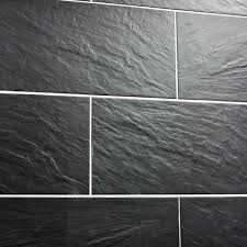 Black Tiles On A Wall Slate