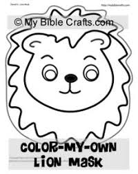 Coloring Page Lion Mask Craft For Kids From New Daniel And The Lions Lesson