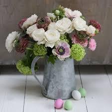 Vintage Chrome Jug Table Arrangement Flowers Created By Eden Blooms Florist From Bombastic Rose