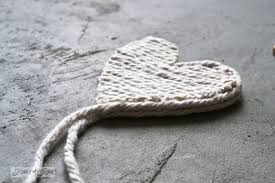 Mop String Rustic Heart Hearts From Salvaged Junk For Valentines Day