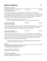 Nicu Rn Resume Er Nurse Example Examples Registered And Nursing Students