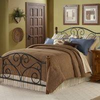 Wrought Iron Headboards King Size Beds by Bedroom Wooden And Metal King Size Bed With Leaf Carved Headboard