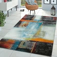 teppich kurzflor wohnzimmer mit abstraktem muster real de