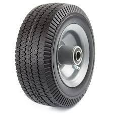 100 Heavy Duty Truck Wheels NK Solid Rubber Flat Free Tubeless Hand Utility