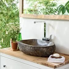 wohnfreuden steinwaschbecken oval ca 50 cm groß für bad
