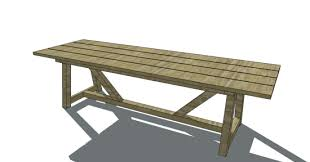 Free Furniture Plans To Build A Restoration Hardware Inspired 10 Provence Beam Dining Table