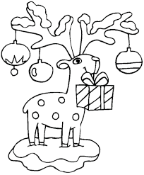 Pin Drawn Reindeer Christmas Coloring Page 3