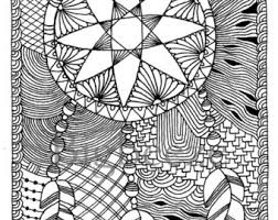 Zentangle DreamcatcherColoring Pages Adult Coloring ArtPen And Ink