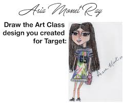 Illustration Of Asia Monet Ray Showing The Design She Created For Art Class