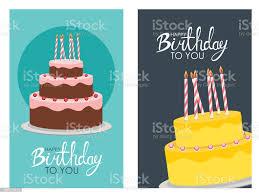 happy birthday plakat hintergrund mit kuchen vektorillustration stock vektor und mehr bilder bäckerei