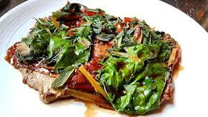 cuisine bayonne veal escalope bayonne ham swiss chard madeira sauce
