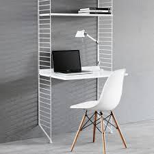 bureau etagere shelf desk white white string furniture design children