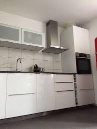 ikea einbauküche metod hochglanz weiss in darmstadt