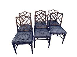 Chinese Chippendale | Florida Regency Bamboo Chippendale Chairs Small Set Of Eight Tall Back Black Faux Chinese Chinese Chippendale Florida Regency 57 Ding Table Vintage Six A Quick Living Room And Refresh Stripes Whimsy Side By Janneys Collection Chair Toronto For Sale Four