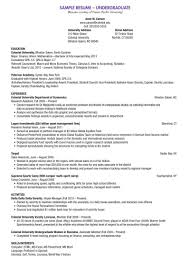 Resume For Scholarship Examples