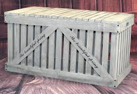 Suncast Db5000 50 Gallon Deck Box by Amazon Com Rustic Gray Wooden Outdoor Deck Box Patio Storage