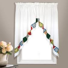 swag curtains for living room wayfair