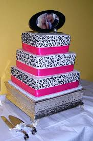 pink black and white cake ideas