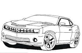 How To Draw Bumblebee Car Colouring Page