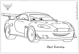 Coloring Pages Cars 2 Printable Breadedcat Free