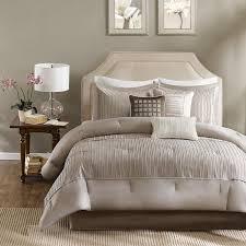 amazon com madison park trinity comforter set queen taupe home