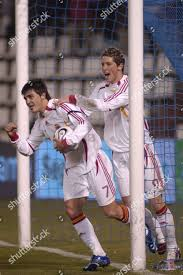 100 Torres Villa Fernando R Celebrates Teammate David Editorial Stock