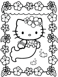 Coloring Pages Hello Kitty Online Mermaid Free Pictures And Friends