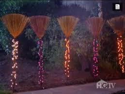 Halloween Pathway Lights Stakes by Diy Lighted Broom Walkway Link To Tutorial Halloween