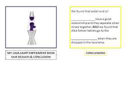MY LAVA LAMP EXPERIMENT BOOK OUR RESULTS CONCLUSION