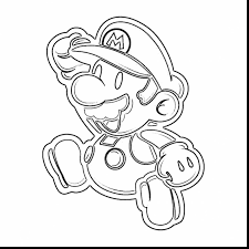Terrific Paper Mario Coloring Pages With Princess Peach