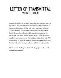 Web Design Letter of Transmittal by Lindsey Lee issuu