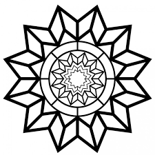 Free Printable Adult Coloring Page Detailed Star Pattern