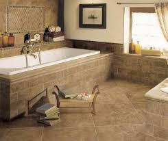 Tiling A Bathtub Surround by Cheerful Bathroom Decoration Using Cream Travertine Bathroom Floor