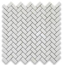 12 x12 thassos white herringbone mosaic tile polished chip size