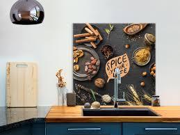 glasbild 80x80 cm wandbild glas küche küchenrückwand