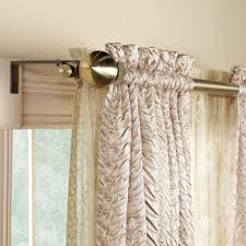 Amazon Double Curtain Rods by Amazon Com Nicole Miller Medallion Pair Of Curtains Ash Gray On