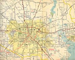 Road Map Of 15 TexasFreeway Houston Historical Information Old Maps
