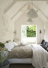Light And Bright Bedroom With Linen Duvet Cover White Pannelled Walls DIY This Fabric For Summer