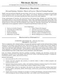 Personal Trainer Resume Objective Job Sample Customer Service