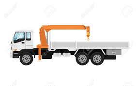 Truck Mounted Crane Isolated On White Background Stock Photo ...